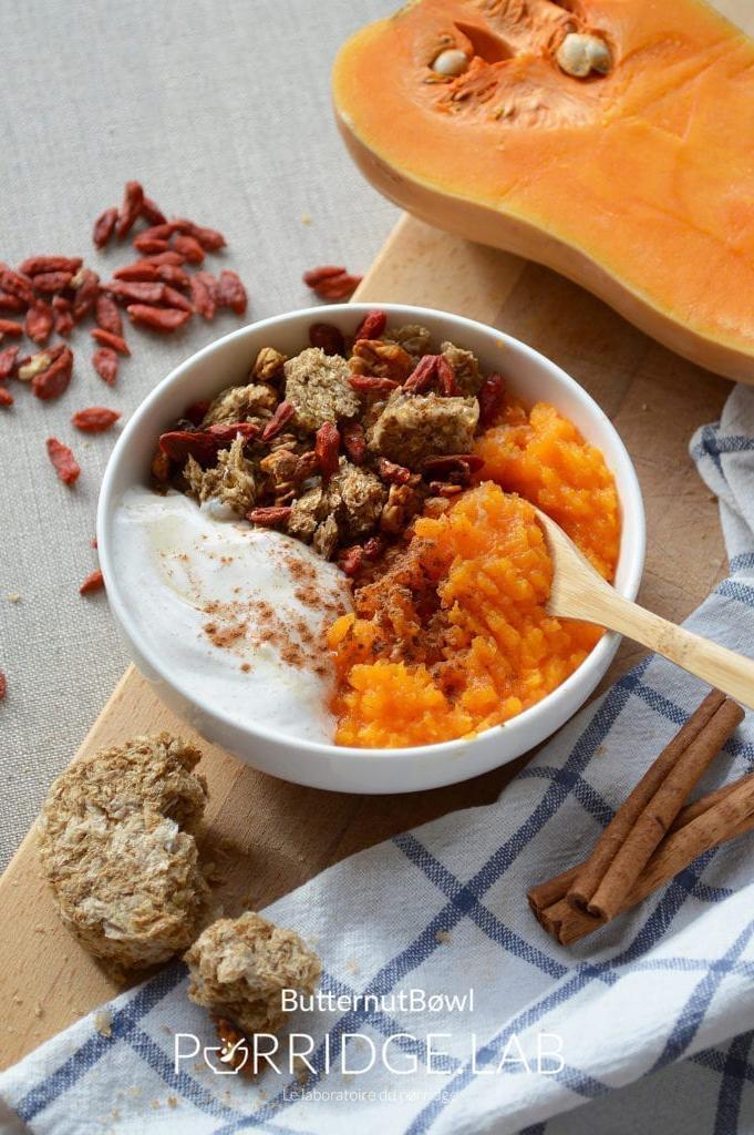 Butternut Bøwl – Petit déjeuner à la Courge