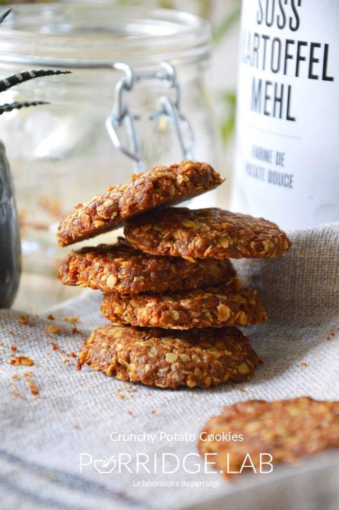 Crunchy PØtato CØokies – Cookies noisette et patate douce