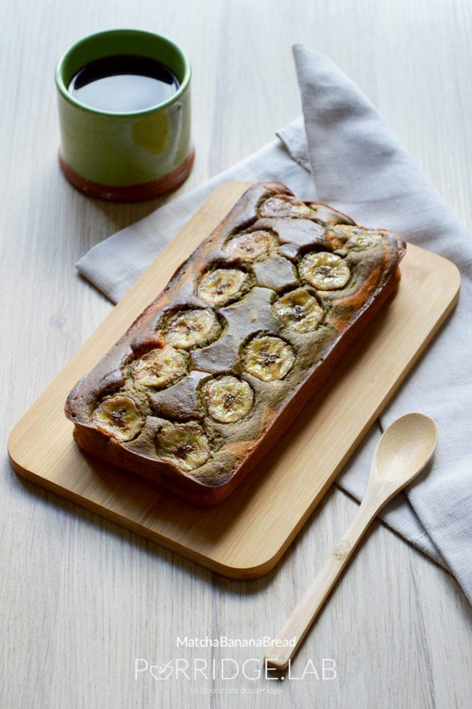 Matcha Banana Bread – Marbré banane & thé matcha