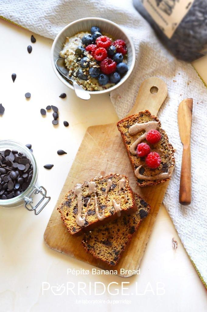 Pépitø Banana Bread – Banana Bread Noisettes Chocolat
