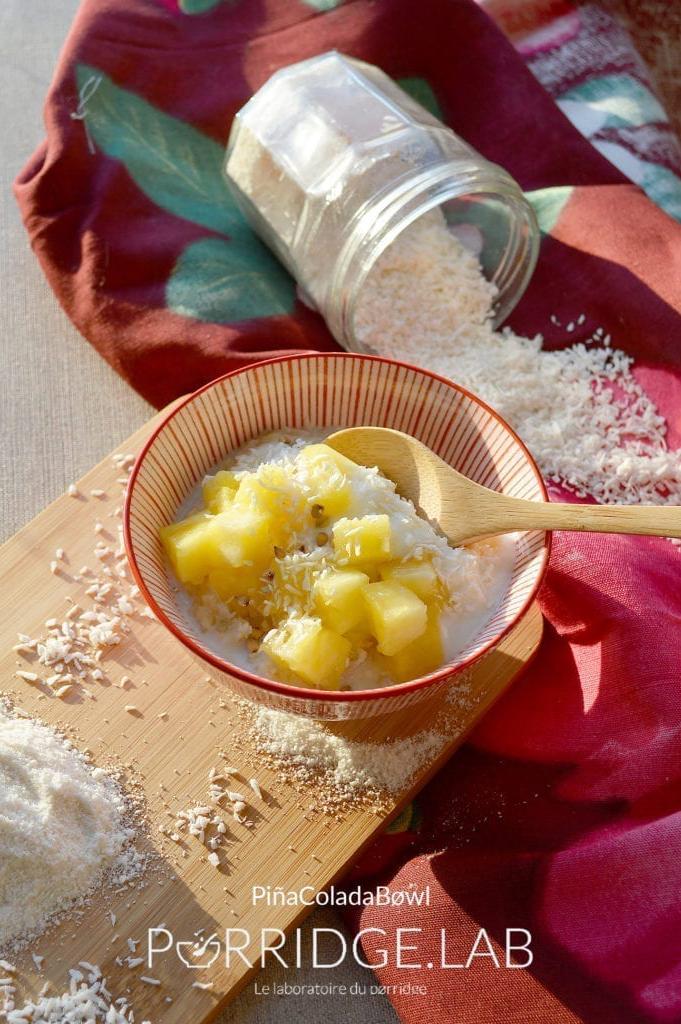PiñaColada Bøwl – Porridge coco ananas