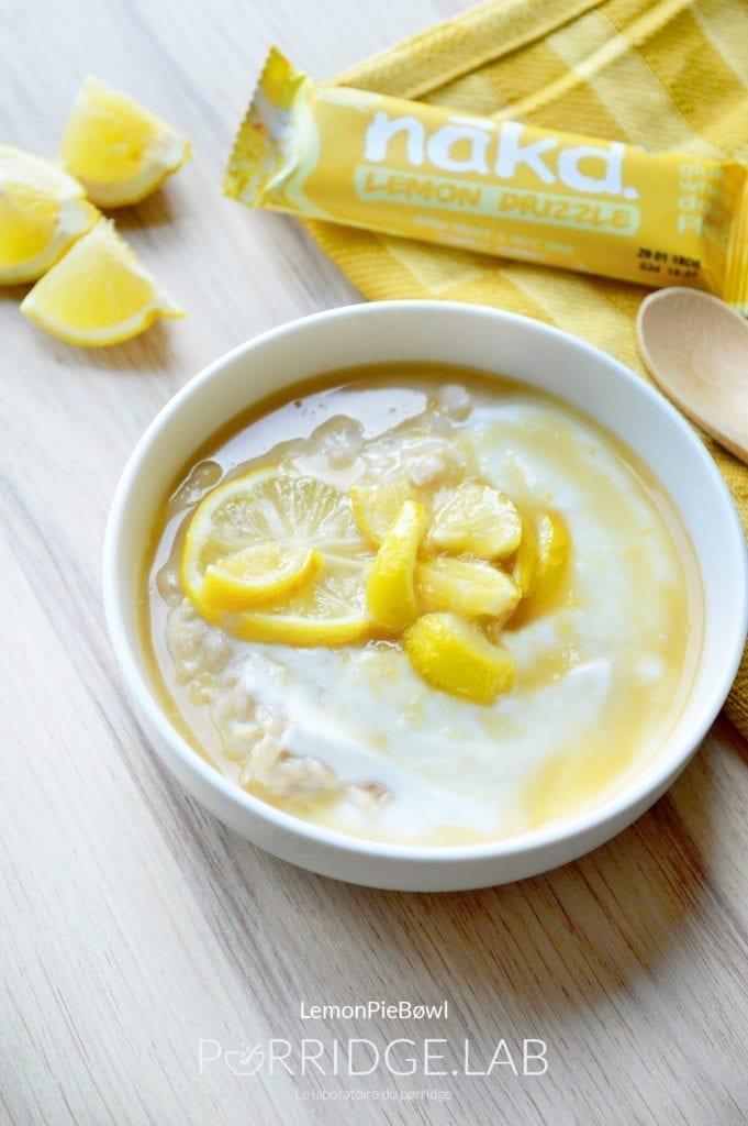 LemønPie Bøwl – Porridge sans gluten façon tarte au citron
