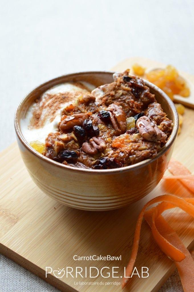Porridge au four façon Carrot Cake – Carrøt Cake Bøwl
