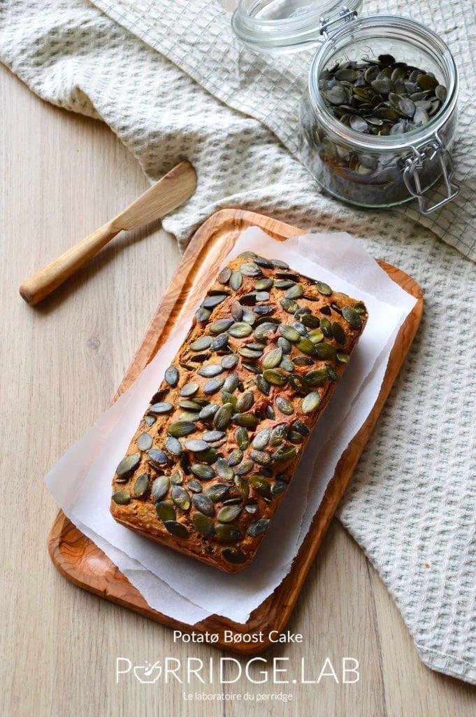 Potatø Bøost Cake – Cake salé à la patate douce