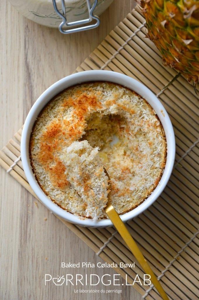 Baked Piña Colada Bøwl – Porridge au four coco-ananas