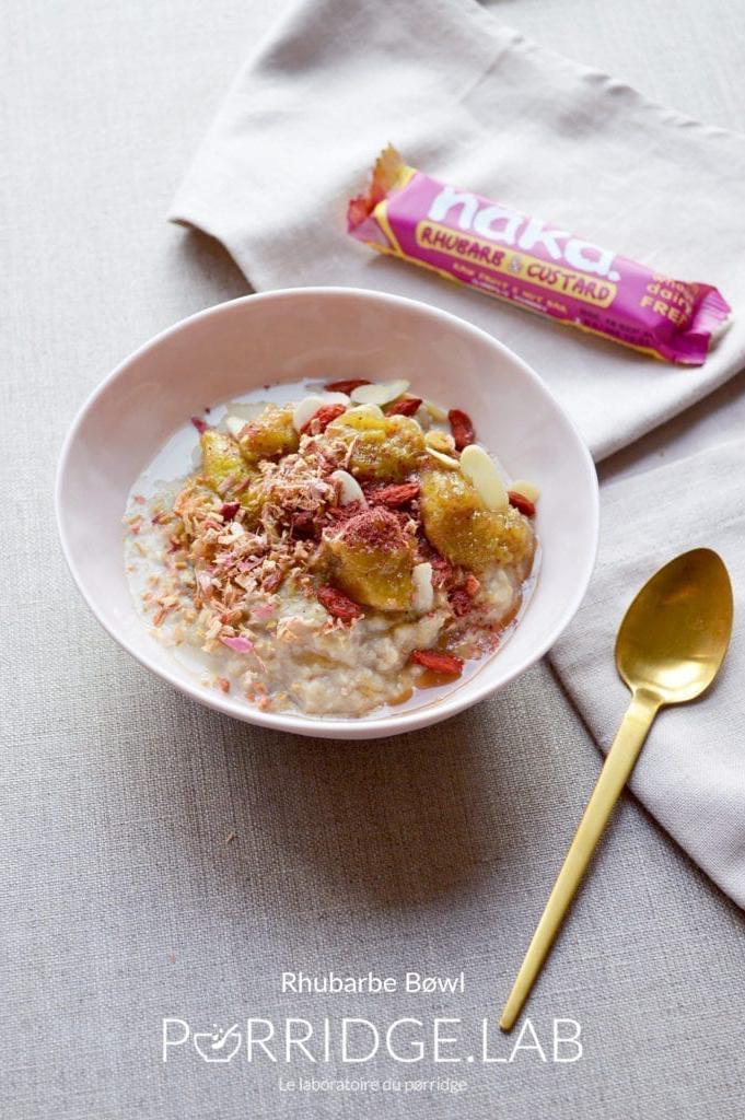 Rhubarbe Bøwl – Porridge de millet et rhubarbe