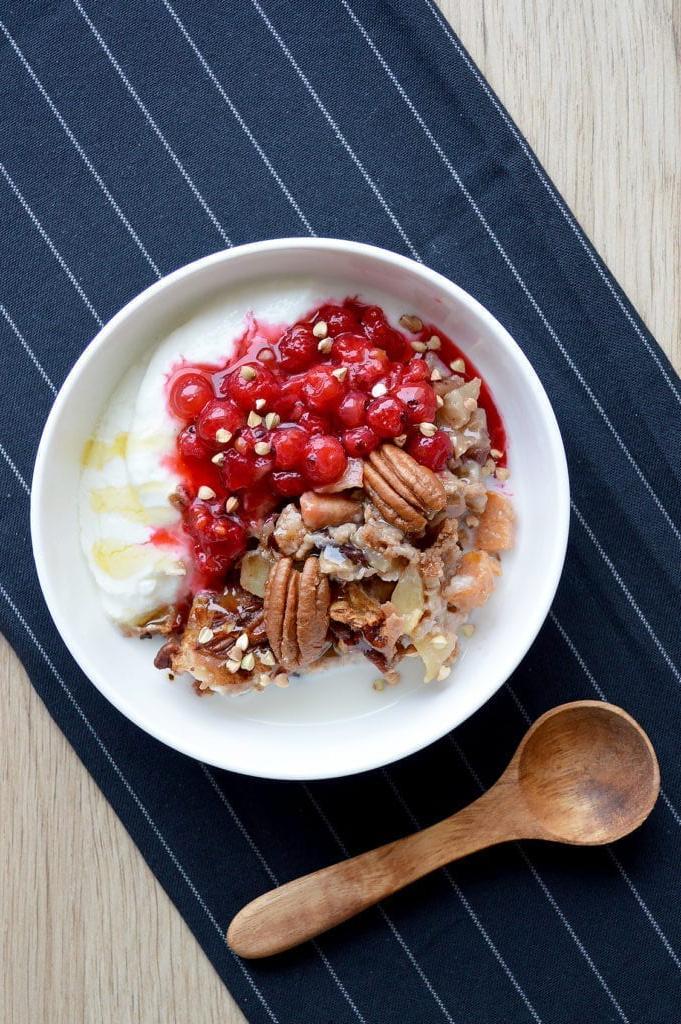 Thanksgiving Bøwl – Porridge au four pomme cannelle