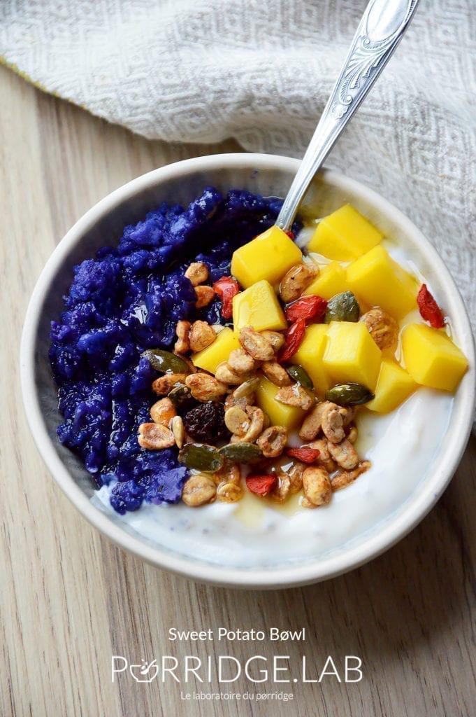 Sweet Potato Bøwl – Porridge de patate douce