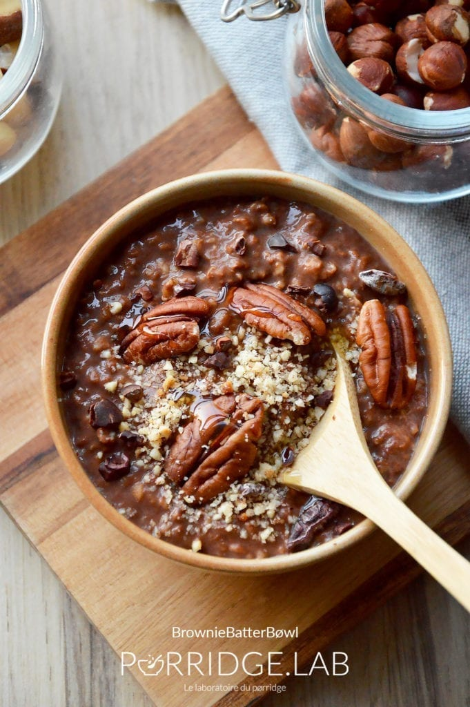 Brownie Batter Bøwl – Porridge façon pâte à brownie